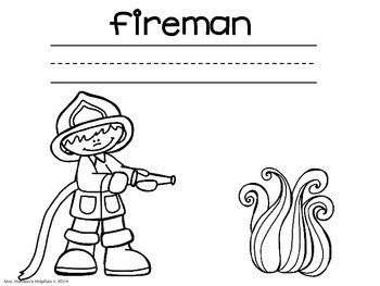 Fire Safety Color and Write Pictures