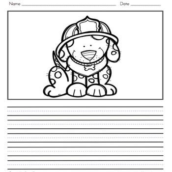 Fire Safety Writing Journal with Word Wall Cards