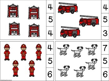 Fire Safety Count And Clip Cards