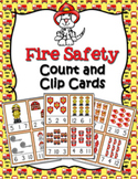 Fire Safety Count and Clip Cards Numbers 1-12