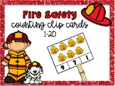 Fire Safety Counting Clip Cards