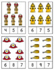 Fire Safety Counting Clip Cards Numbers 1-20