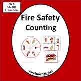 Fire Safety Counting Activities Preschool  Kindergarten Special Education Math