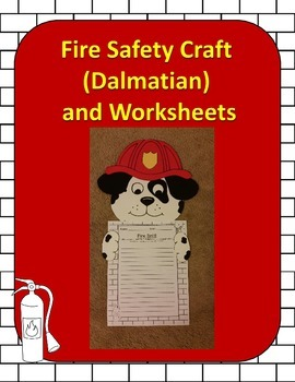 Fire Safety Craft (Dalmation) and Worksheets