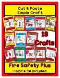 Fire Safety + Craft Set - Cut & Paste Crafts Super Easy fo