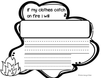 Fire Safety Craft and Writing Prompts