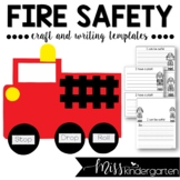 Fire Safety- Craft and Writing Templates