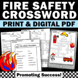 Fire Safety Rules Crossword Puzzle for Fire Safety Unit