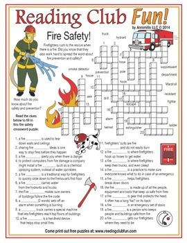 Fire Safety Crossword Puzzle