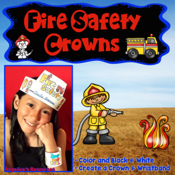 Fire Safety Activities : Crowns and Wristbands - Fire Safety Craft