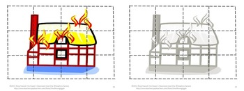 Fire Safety  Cut and Paste Puzzles, Kindergarten, Special Education Math