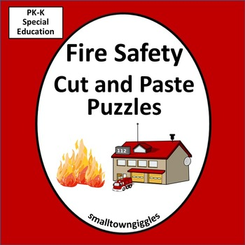 fire safety fine motor activities cut and paste puzzles special education. Black Bedroom Furniture Sets. Home Design Ideas