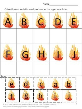 Fire Safety Activities Math  Literacy Cut Paste Special Education Kindergarten