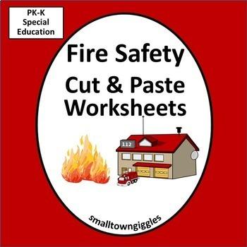 Fire Safety Week Activities Math & Literacy Cut & Paste Ki