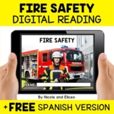 Fire Safety Reading Comprehension for Google Classroom - D