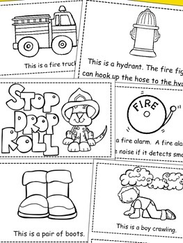 Fire Safety Emergent Reader *Build Your Own*