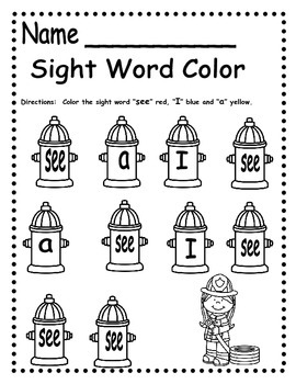 Fire Safety Emergent Reader and Phonemic Awareness Follow Up Pack