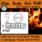 Fire Safety Emergent Reader with Stop, Drop, and Roll Technique