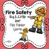 Fire Safety File Folder Game: Big & Little Sort