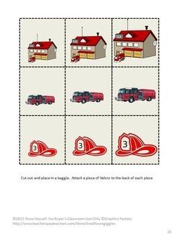 Fire Safety Activities Kindergarten Math & Literacy Centers File Folder Games