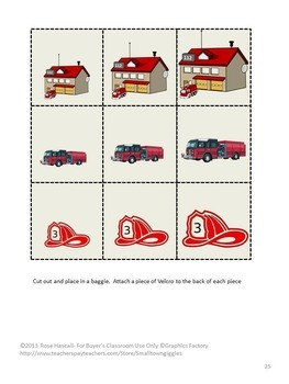Fire Safety Activities Kindergarten Math Literacy File Folder Games Fine Motor