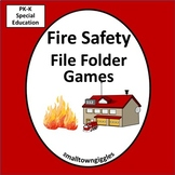 Fire Safety Week Games, Math & Literacy File Folder Games Special Education