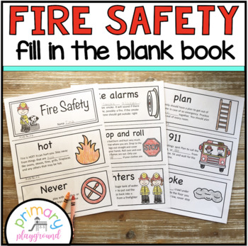 Fire Safety ~ Fill in the Blank Book