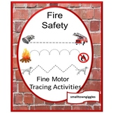 Fire Safety Tracing Activities, Tracing Lines, Fine Motor Skills, Special Educat
