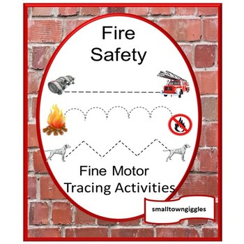 fire safety tracing activities tracing lines fine motor skills special educat. Black Bedroom Furniture Sets. Home Design Ideas