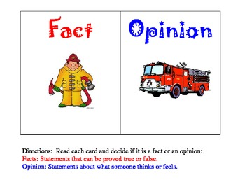 Fire Safety Fire Prevention Week Firefighter Story Fact and Opinion