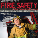 Fire Safety Packet with Close Reading for October Literacy  Activities