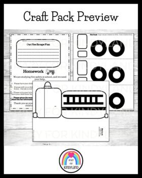 Fire Safety: Fire Truck Craft and Escape Plan Homework
