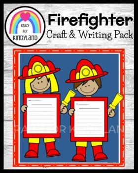 Community Helpers Craft and Writing: Firefighters