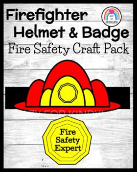 Firefighter Hat and Badge (Fire Safety)
