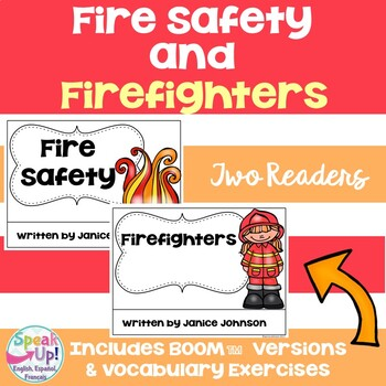 Fire Safety & Firefighter Readers & Vocabulary Pack