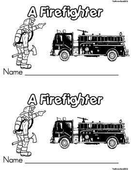 Fire Safety & Firefighters Emergent Reader Book ** Perfect for Read to Self