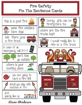 Fire Safety: Fix The Sentence Cards