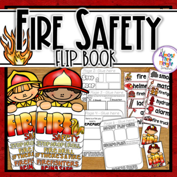 Fire Safety Week Flip Book - Fire Vocabulary Cards - 'Fire