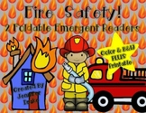 Fire Safety Foldable Emergent Readers PLUS Printable!  Col