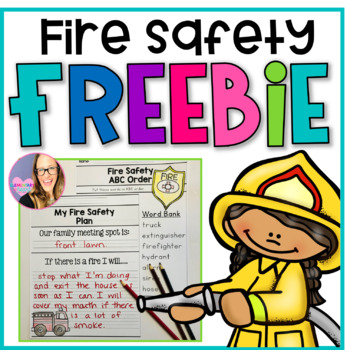 Fire Safety Freebie (K-1) for Fire Prevention Week FREEBIE