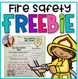 Fire Safety Freebie (K-1) for Fire Prevention Week FREEBIE