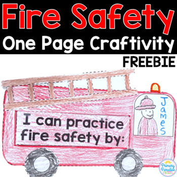 Fire Safety Freebie: One Page Fire Truck Craftivity