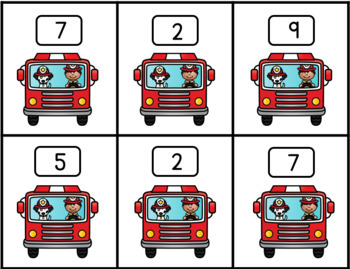 Fire Safety Friends Find the Missing Number - Addition