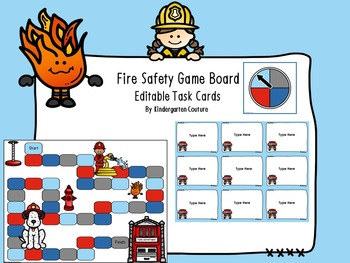 Fire Safety Game With Editable Task Cards