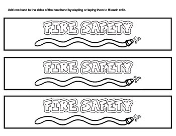 Fire Safety Headband - Stop, Drop, & Roll