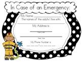 Fire Safety Homework & Parent Letter (K-5)