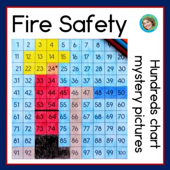 Fire Safety Hundreds Chart Mystery Pictures