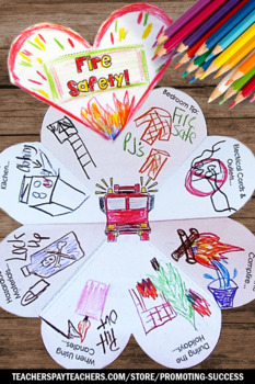 Fire Safety Craft, Life Skills Special Education, Fire Safety Week Activities