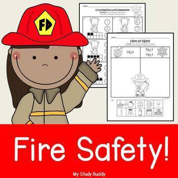 Fire Safety Activities (Kindergarten, Fire Safety Worksheets)