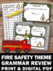Fire Safety Week Task Cards Activities & Games Grammar Lit